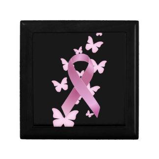 Pink Awareness Ribbon Jewelry Box
