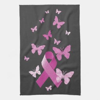 Pink Awareness Ribbon Kitchen Towel