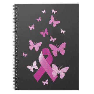 Pink Awareness Ribbon Notebook