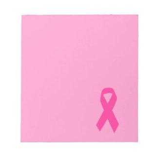 Pink Awareness Ribbon Notepad