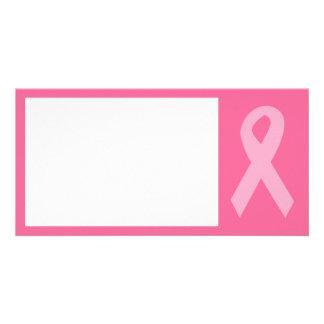 Pink Awareness Ribbon Photo Card