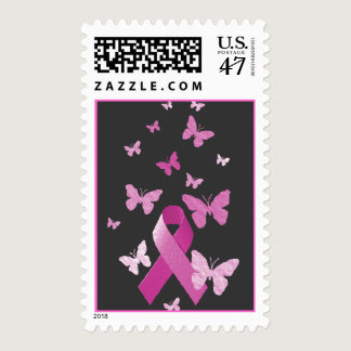 Pink Awareness Ribbon Postage