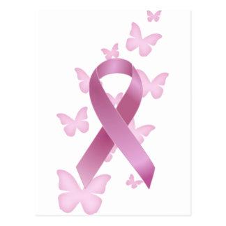 Pink Awareness Ribbon Postcard