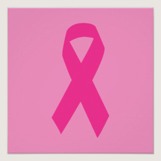 Pink Awareness Ribbon Poster