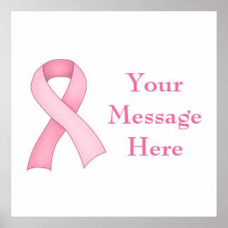 Pink Awareness Ribbon Poster 0002