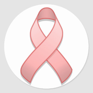 Pink Awareness Ribbon Round Sticker