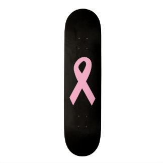 Pink Awareness Ribbon Skate Board