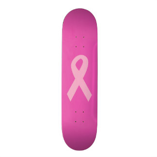 Pink Awareness Ribbon Skateboard