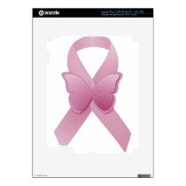 Pink Awareness Ribbon Skin For iPad 3