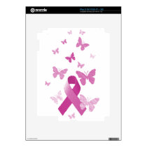 Pink Awareness Ribbon Skin For The iPad 2