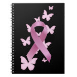 Pink Awareness Ribbon Spiral Note Book