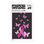Pink Awareness Ribbon Stamps