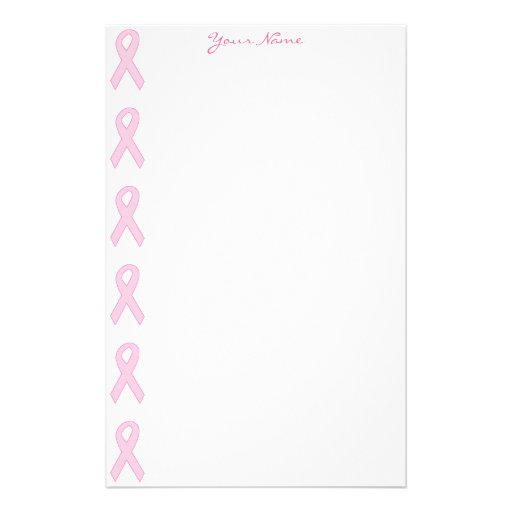 Pink Awareness Ribbon Stationery