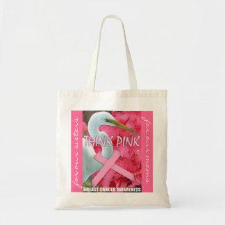 Pink Awareness Tote Bag