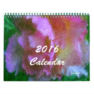 Pink Azalea Art 2016 Calendar Standard Two Pages