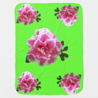 Pink Azalea baby blanketl Baby Blanket