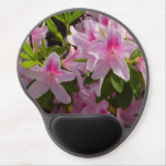 Pink Azalea Bush Spring Flowers Gel Mouse Pad
