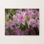 Pink Azalea Bush Spring Flowers Jigsaw Puzzle