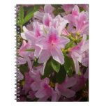 Pink Azalea Bush Spring Flowers Spiral Notebook