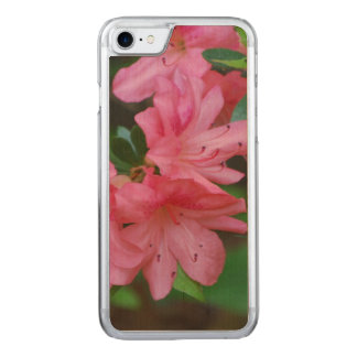 Pink Azalea Carved iPhone 7 Case