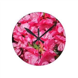 Pink Azalea Wall Clocks