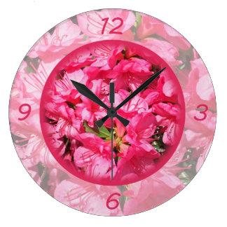 Pink Azalea Wall Clock