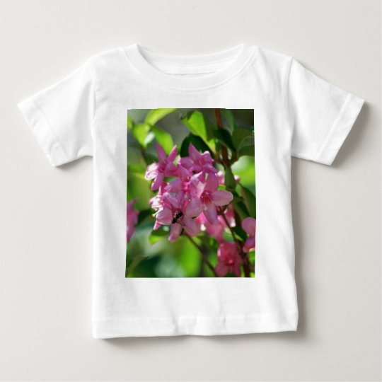 Pink azalea flowers and meaning baby T-Shirt