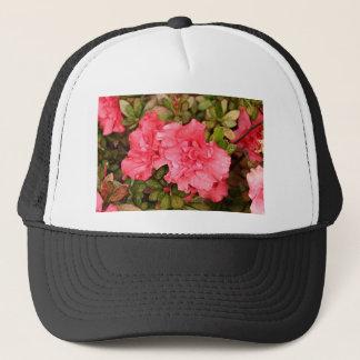 Pink azalea flowers in bloom trucker hat