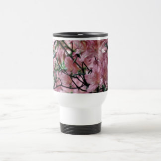 Pink Azalea flowers Travel Mug