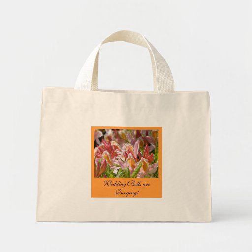 Pink Azalea Wedding Party Tote bag gifts Brides
