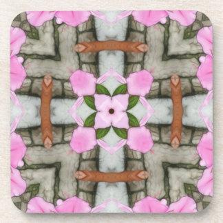 Pink Azaleas 1E kaleidoscope10 Drink Coaster
