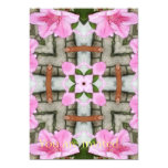 Pink Azaleas 1E kaleidoscope10 5x7 Paper Invitation Card