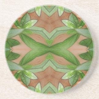 Pink Azaleas 1E kaleidoscope 1 Drink Coaster