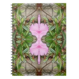 Pink Azaleas 1E kaleidoscope 2 Notebook