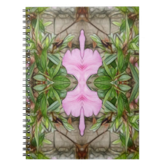 Pink Azaleas 1E kaleidoscope 2 Notebooks