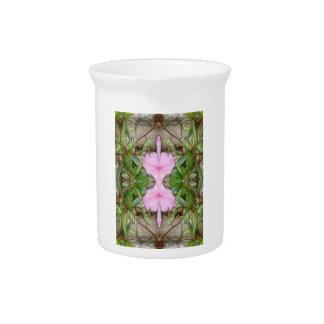 Pink Azaleas 1E kaleidoscope 2 Pitcher