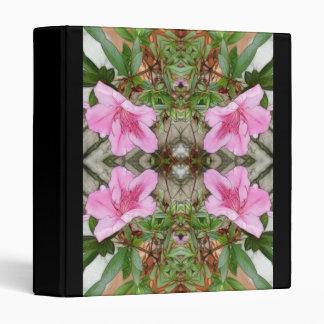 Pink Azaleas 1E kaleidoscope 3 3 Ring Binders