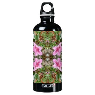 Pink Azaleas 1E kaleidoscope 3 Water Bottle