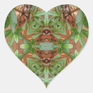 Pink Azaleas 1E kaleidoscope 4 Heart Sticker