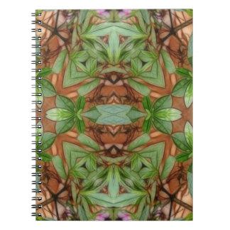 Pink Azaleas 1E kaleidoscope 4 Spiral Note Books