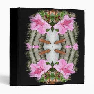 Pink Azaleas 1E kaleidoscope 5 3 Ring Binders