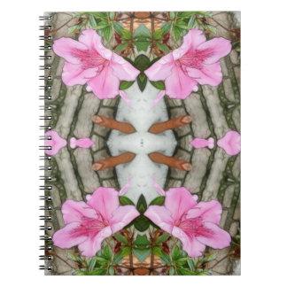 Pink Azaleas 1E kaleidoscope 5 Notebook
