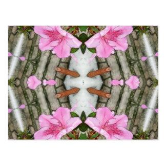 Pink Azaleas 1E kaleidoscope 5 Postcard