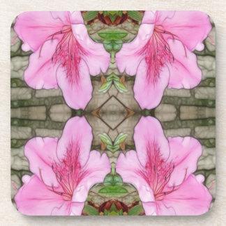 Pink Azaleas 1E kaleidoscope 6 Coasters