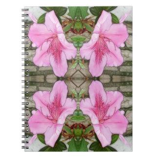 Pink Azaleas 1E kaleidoscope 6 Notebook