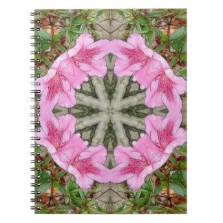 Pink Azaleas 1E kaleidoscope 8 Notebook