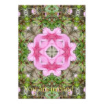 Pink Azaleas 1E kaleidoscope 9 5x7 Paper Invitation Card
