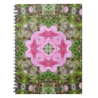 Pink Azaleas 1E kaleidoscope 9 Notebook
