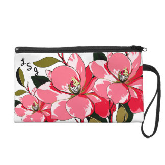 Pink Azaleas Become You - Personalized Wristlet