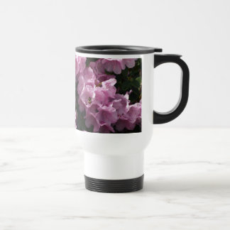 Pink Azaleas & Bee, Rhododendron Garden Flowers 15 Oz Stainless Steel Travel Mug